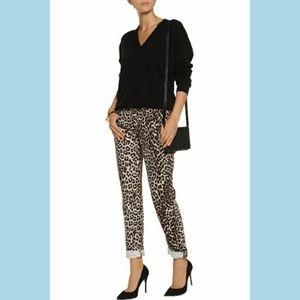 RAG & BONE Women's Snow Leopard Boyfriend Jeans Pa